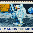 Postage stamp USA 1969 Man - Stock Photo