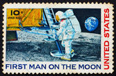 Postage stamp USA 1969 Man — Stock Photo