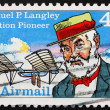 Stock Photo: Postage stamp US1988 Samuel Pierpoint Langley
