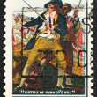 Postage stamp USA 1968 John Trumbull - Stock Photo
