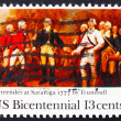 Stock Photo: Postage stamp US1977 Surrender of Burgoyne at Saratoga
