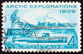 Postage stamp USA 1959 Conquest of the Arctic — Stock Photo