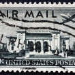 Postage stamp US1947 Plane over PAmericUnion Building — Stock Photo #6692815