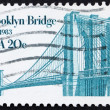 Postage stamp US1983 Brooklyn Bridge — Stock Photo #6692861
