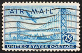 Postage stamp USA 1947 Plane over San Francisco — Stock fotografie