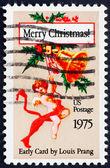 Postage stamp USA 1975 Early Christmas card — Stock Photo