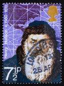 Postage stamp GREAT BRITAIN 1972 Henry Hudson — 图库照片