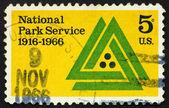 Briefmarke usa 1966-nationalpark-service-emblem — Stockfoto