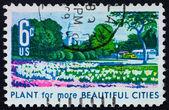 Postage stamp USA 1969 Capitol, azaleas and tulips — Stock Photo