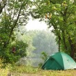 Tent in forest — Stock Photo #5663081