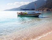 Boat in bay — Stock Photo