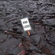 Road buried in lava on Hawaii — Stock Photo