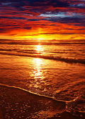 Sea sunset — Stockfoto