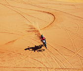 Motocross in desert — Stock Photo