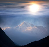 Peak on sunset — Stock Photo