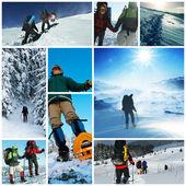 Winter hike — Stock Photo
