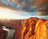 在亚利桑那州的科罗拉多河 — 图库照片