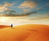 Hike in desert — Stock Photo