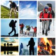 Stock Photo: Hike collage
