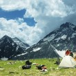 Tent in mountains — Stock Photo #6557264