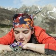 Girl in hike — Stock fotografie