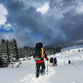 Winterwandelen — Stockfoto