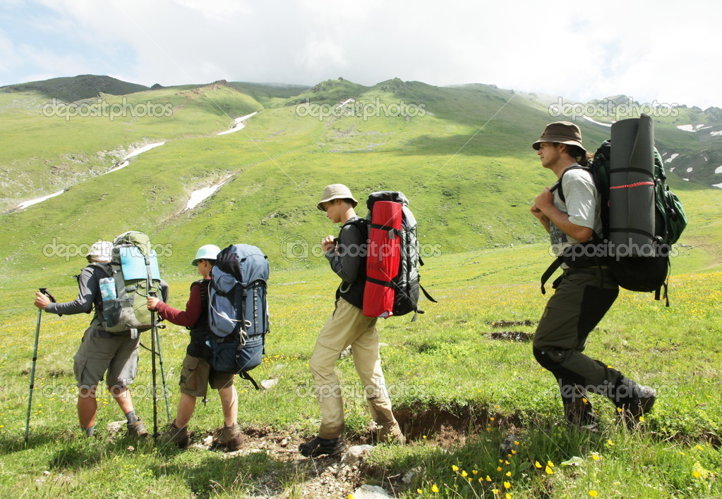 Group  in  hike — Stock Photo #6556987