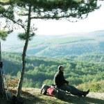 Halt in hike — Stock Photo