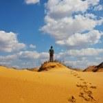 Hike in desert — Stock Photo #6560095