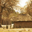 African huts - Stock Photo