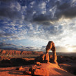 boog in het arches national park — Stockfoto