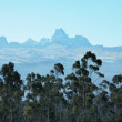 Mountain peak Kenya — Stock Photo