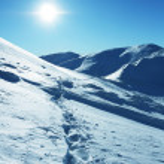 sol e neve — Foto Stock