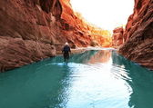 Hike in canyon — Stock Photo