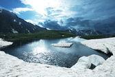 High mountains lake — Stock Photo
