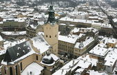 The historical centre of the city of Lviv in Western Ukraine — Stock Photo