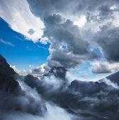 Storm in bergen — Stockfoto