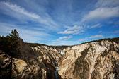 водопад в йеллоустон — Стоковое фото
