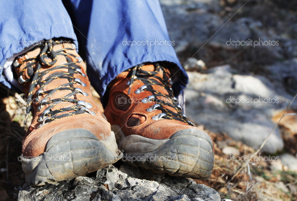 Trekking boots close up — Stock Photo #6562631