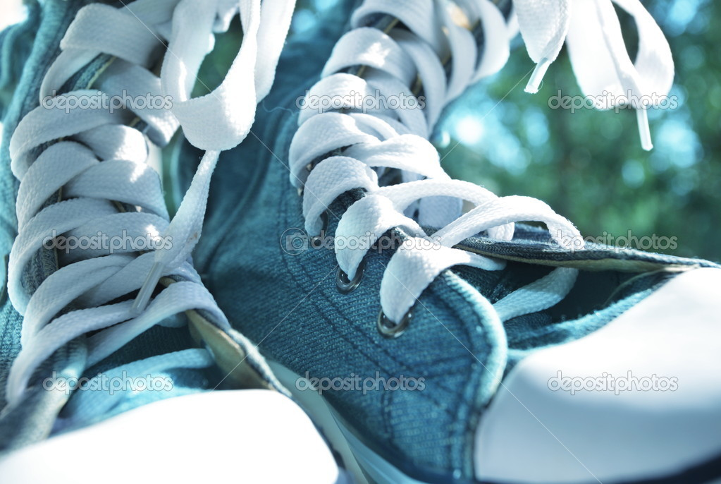 Trekking boots close up — Stock Photo #6562638