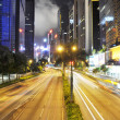 Traffic in city at night — Stockfoto
