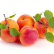 Apricot with leaves — Stock Photo #5833412