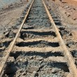 Dismantled railway - Stock Photo