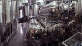 Steel tanks for beer — Stock Photo