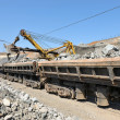 Loading of iron ore railways — Stock Photo