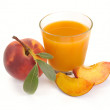Royalty-Free Stock Photo: Peach juice and fruit
