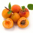 Apricot with leaves — Stock Photo #6118724
