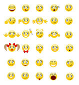 Set smileys — Stock Vector