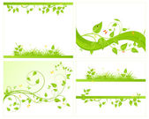 Set vector backgrounds — Stock Vector