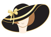 A woman in the bonnet — Stock Vector